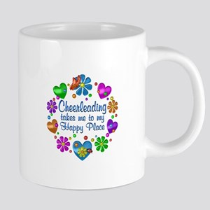 Cheerleading My Happy Place 20 oz Ceramic Mega Mug