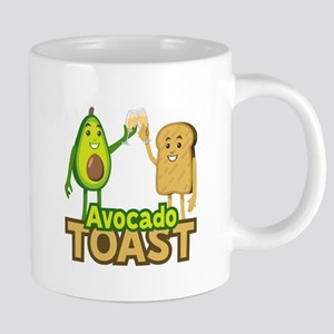 Emoji Avocado Toast 20 oz Ceramic Mega Mug