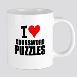 I Love Crossword Puzzles Mugs