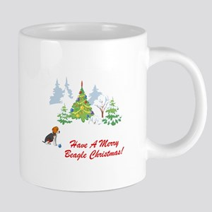 FIN-merry-beagle-christmas 20 oz Ceramic Mega