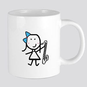 Girl & Bass Clarinet Mugs