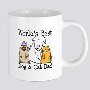 World's Best Dog and Cat Dad Mugs