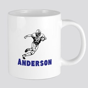 Personalized Football 20 oz Ceramic Mega Mug