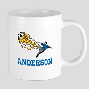 Personalized Soccer 20 oz Ceramic Mega Mug