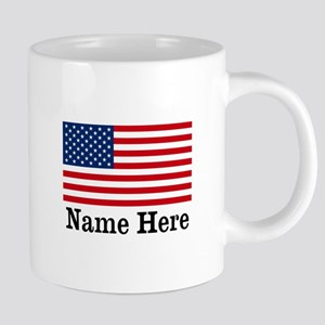 Personalized American Flag Mugs