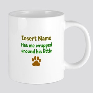 My dog wrapped around finger Mugs