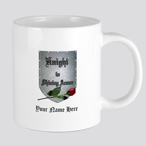 Knight in Shining Armor Rose Personalize 20 oz Cer