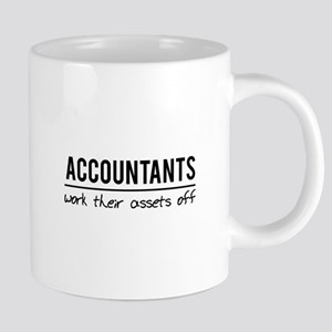 Accountants work assets off Mugs