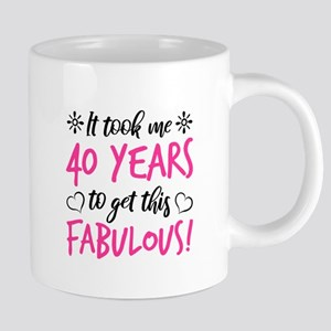 Fabulous 40th Birthday Mugs