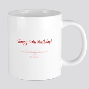 50th Birthday Get a Colonos 20 oz Ceramic Mega Mug