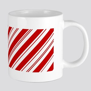 red christmas candy cane Mugs
