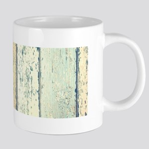 turquoise beach whitewash wood Mugs