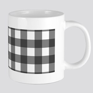 Black White Buffalo Plaid Mugs