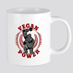 Vegan Power Bodybuilder Gor 20 oz Ceramic Mega Mug
