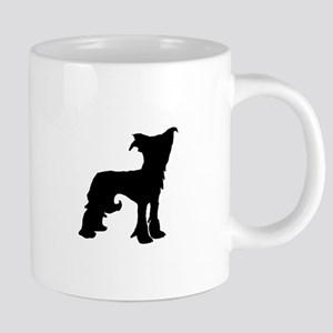 chinese crested silhouette Mugs