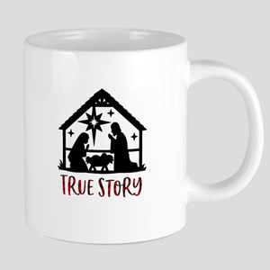Christmas True Story Mugs