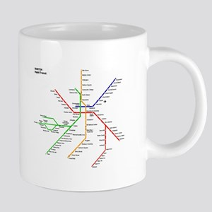 Boston Rapid Transit Map Subway Metro Undergr Mugs