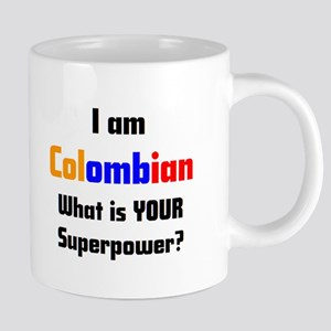 i am colombian 20 oz Ceramic Mega Mug