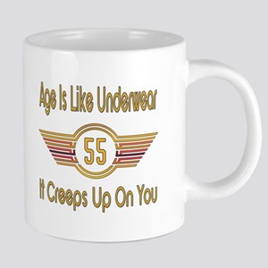 Funny 55th Birthday 20 oz Ceramic Mega Mug