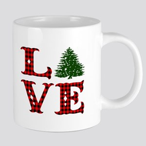 Buffalo Plaid Love Christmas Mugs
