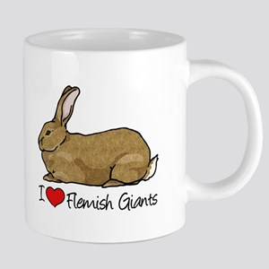I Heart Flemish Giant Rabbits 20 oz Ceramic Mega M