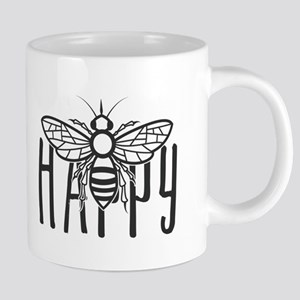 Bee Happy Cute Honey Bee Happiness Motivation Mugs