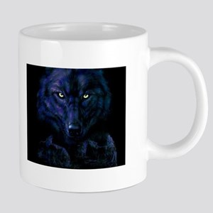 Midnight Wolf 20 oz Ceramic Mega Mug