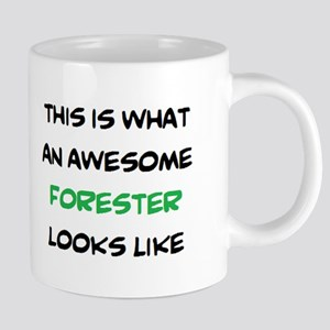 awesome forester 20 oz Ceramic Mega Mug