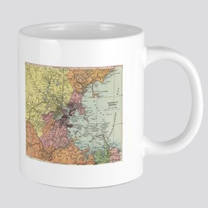 Vintage Map of Boston Massa 20 oz Ceramic Mega Mug