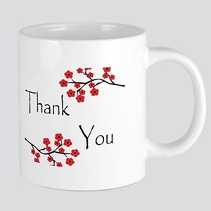 Red Cherry Blossoms Thank You 20 oz Ceramic Mega M