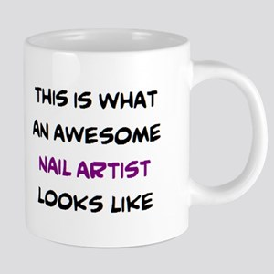 awesome nail artist 20 oz Ceramic Mega Mug