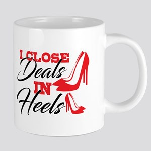 I Close Deals in Heels 20 oz Ceramic Mega Mug