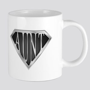 Super Aunt in Chrome 20 oz Ceramic Mega Mug