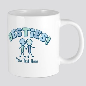 CUSTOM TEXT Besties 20 oz Ceramic Mega Mug