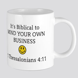 Mind Your Own Business, It' 20 oz Ceramic Mega Mug