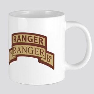 1st Ranger Bn Scroll/ Tab Des Large Mugs