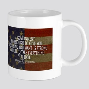Big Government Quote 20 oz Ceramic Mega Mug