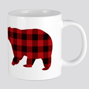 lumberjack buffalo plaid Bear Mugs
