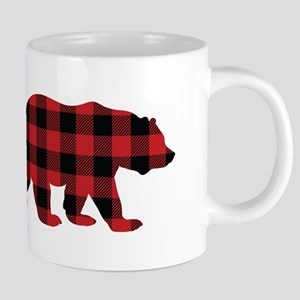 Buffalo Plaid Bear 20 oz Ceramic Mega Mug