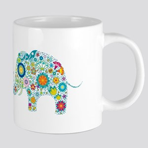 Colorful Retro Flowers Stainless Steel Travel Mugs