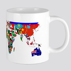 World Map With Flags Mugs
