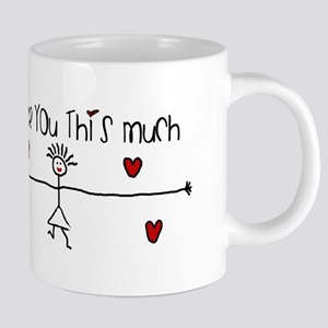 I Love You This Much Mugs