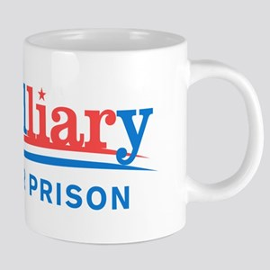 Liar Hillary For Prison 20 oz Ceramic Mega Mug
