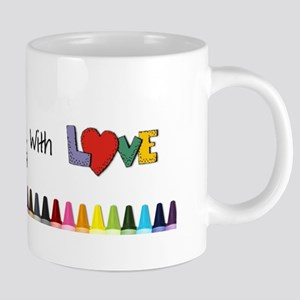 You Color My World Section Mugs