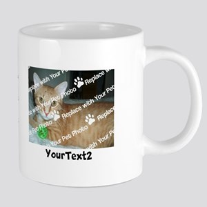 CUSTOM Add 2 Photos 2 Texts 20 oz Ceramic Mega Mug