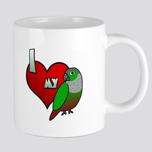 I Love My Green-Cheeked Conure Mugs
