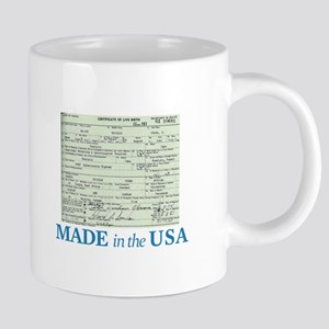 Barack Obama Made In The USA Birth Certificate Mug