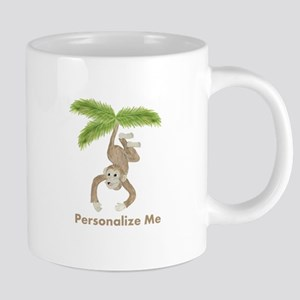 Personalized Monkey 20 Oz Ceramic Mega Mug