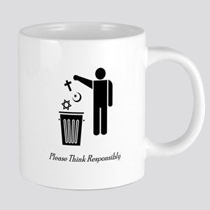 Please Think Responsibly Mugs