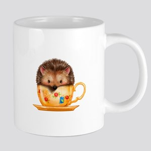 Adorable Hedgehog In Teacup Mugs